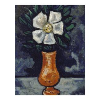 White Flower - Marsden Hartley Letterhead