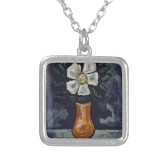 White Flower - Marsden Hartley Silver Plated Necklace