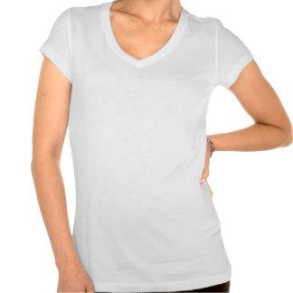 White flower on music t-shirt