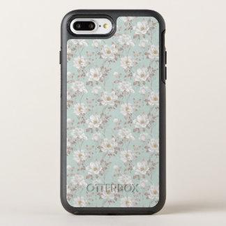 White Flower Pattern OtterBox Symmetry iPhone 8 Plus/7 Plus Case