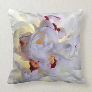 White Flower Pillow #1