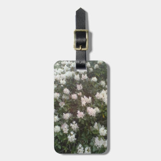 White flower plant bag tag