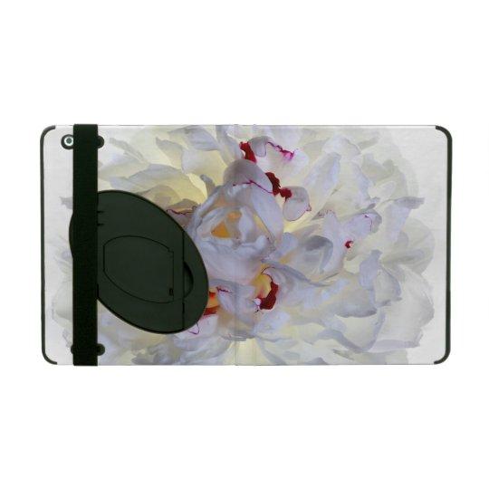 White Flower Powis iCase iPad 2/3/4 Casewith Kicks iPad Folio Case