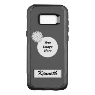 White Flower Ribbon Template by Kenneth Yoncich OtterBox Commuter Samsung Galaxy S8+ Case