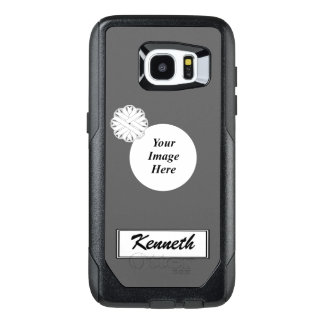 White Flower Ribbon Template by Kenneth Yoncich OtterBox Samsung Galaxy S7 Edge Case