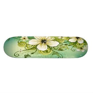 White Flower Sk8B0rd Skate Board Decks