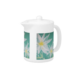White Flower Teapot