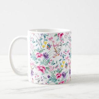 White flowered Mug