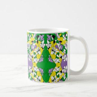 White flowers. Abstract art. Coffee Mug