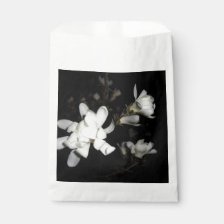 White Flowers Black Background Jasmine Flower Moon Favour Bag
