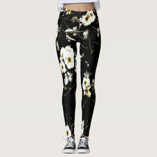 white flowers black leggings