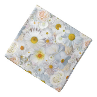 White Flowers Bouquet Floral Wedding Bridal Spring Bandana