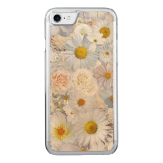 White Flowers Bouquet Floral Wedding Bridal Spring Carved iPhone 8/7 Case