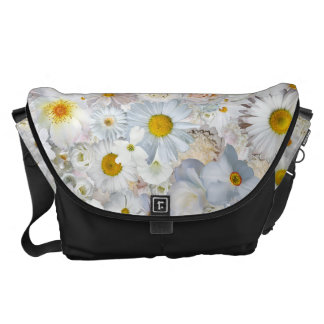 White Flowers Bouquet Floral Wedding Bridal Spring Commuter Bag