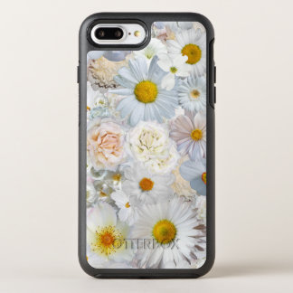 White Flowers Bouquet Floral Wedding Bridal Spring OtterBox Symmetry iPhone 8 Plus/7 Plus Case