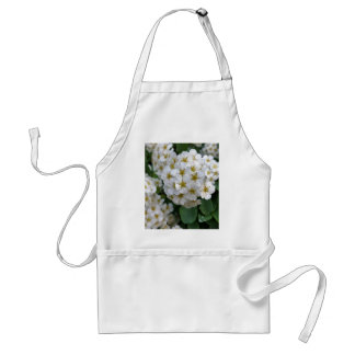 White flowers glowing standard apron
