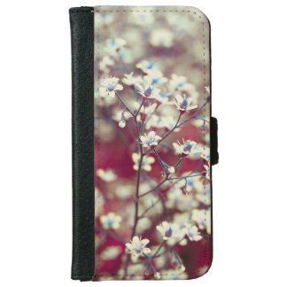 White flowers iPhone 6 wallet case