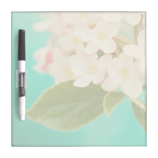 White Flowers IX Dry Erase Board