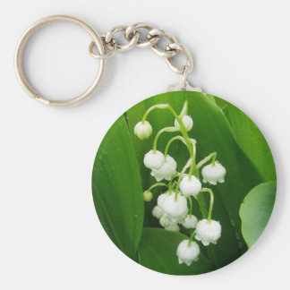 White Flowers Lily-of-the-Valley Keychain