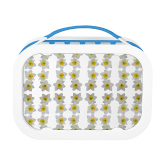white flowers lunch box