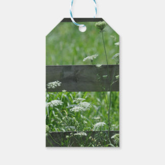 white-flowers nature green gift tags