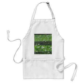 white-flowers nature green standard apron