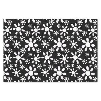 White Flowers on Black Tissue Paper
