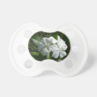 WHITE FLOWERS PACIFIER