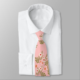 white flowers tie