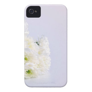 White flowers wedding background Case-Mate iPhone 4 cases