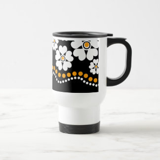 White FlowersTravel coffee mugs