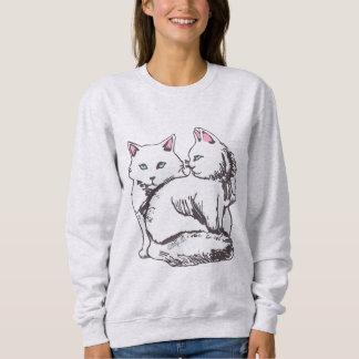 White Fluffy Cats Women's Cozy Sweatshirt