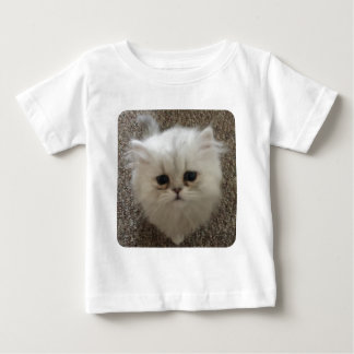 White Fluffy the kitty with sad eyes Baby T-Shirt