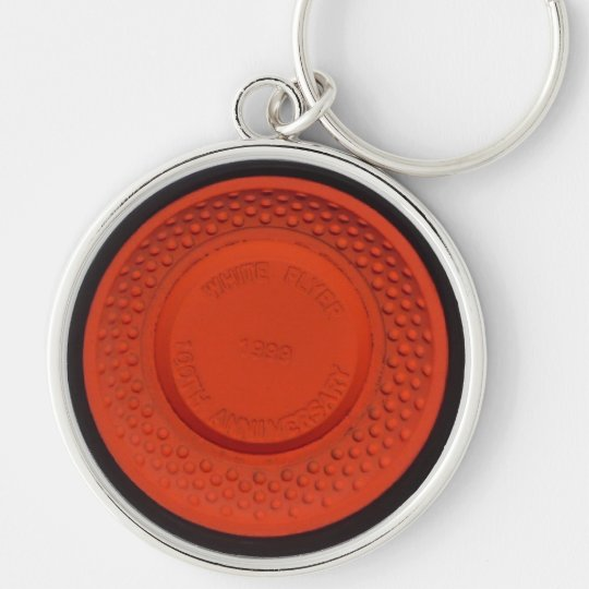 White Flyer Clay Pigeon Key Chain
