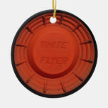 White Flyer Clay Pigeon Ornament