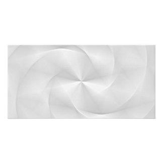 white folded swirl photo card