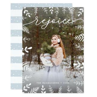 White Foliage   Holiday Photo Card
