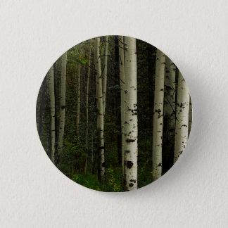 White Forest 2 Inch Round Button