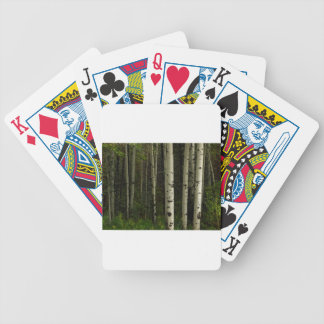 White Forest Bicycle Playing Cards