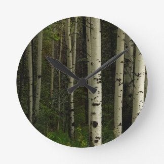 White Forest Round Clock
