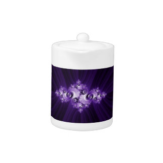 White fractal on purple background.