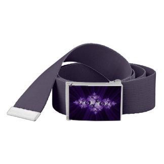 White fractal on purple background belt