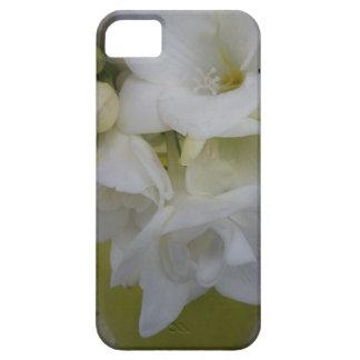 White freesia iPhone 5 cases