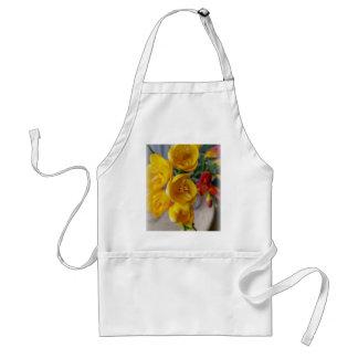 white freesia standard apron