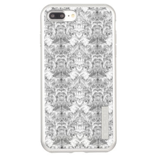 White Frost Ghost Shadow Blur Damask Illusion Incipio DualPro Shine iPhone 8 Plus/7 Plus Case