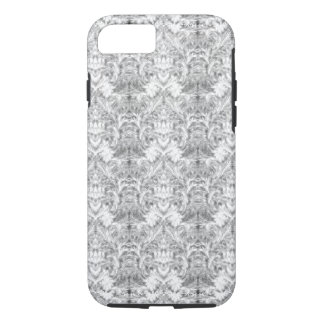 White Frost Ghost Shadow Blur Damask Illusion iPhone 8/7 Case