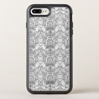 White Frost Ghost Shadow Blur Damask Illusion OtterBox Symmetry iPhone 8 Plus/7 Plus Case