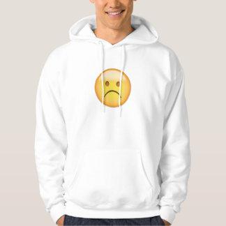 White Frowning Face Emoji Hoodie