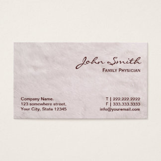 White Fur Family Physician Business Card