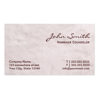 White Fur Marriage Counseling Business Card